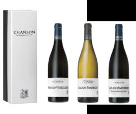 Coffret Chanson Beaune Clos Des Marconnets/Pernand Vergelesses/Chassagne Montrachet